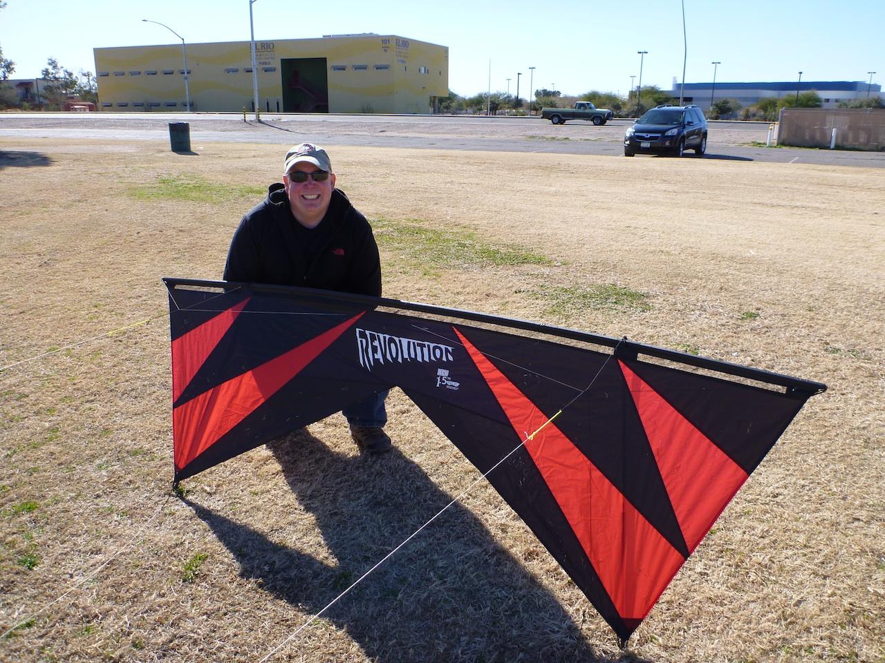 David And His New Stunt Kite