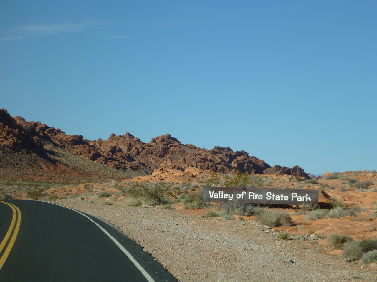 The Sign At The Entrance Of Valley Of Fire State Park