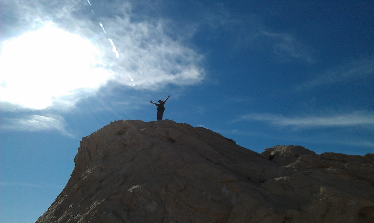 David At The Top Of Silica Dome In The Valley Of Fire State Park