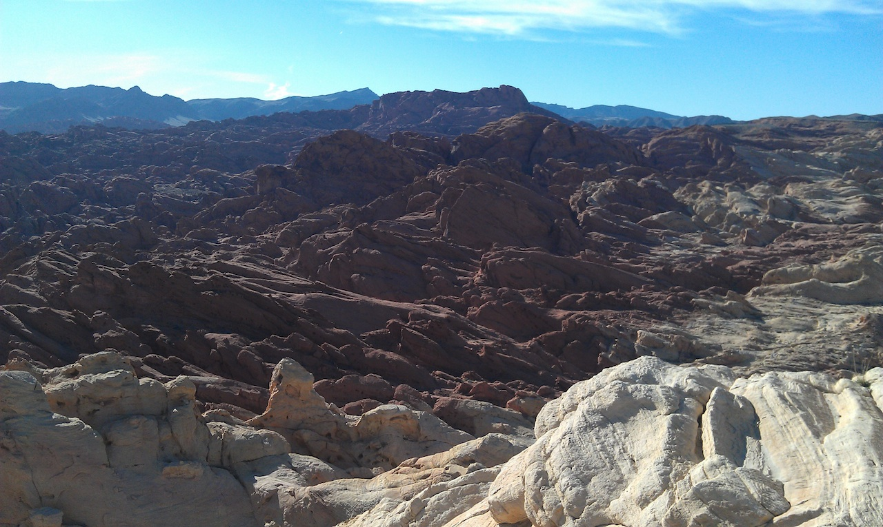 The View From The Top Of Silica Dome In The Valley Of Fire State Park