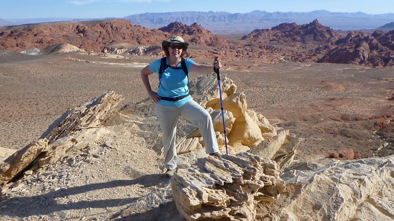 Me At The Top Of Silica Dome At The Valley Of Fire State Park