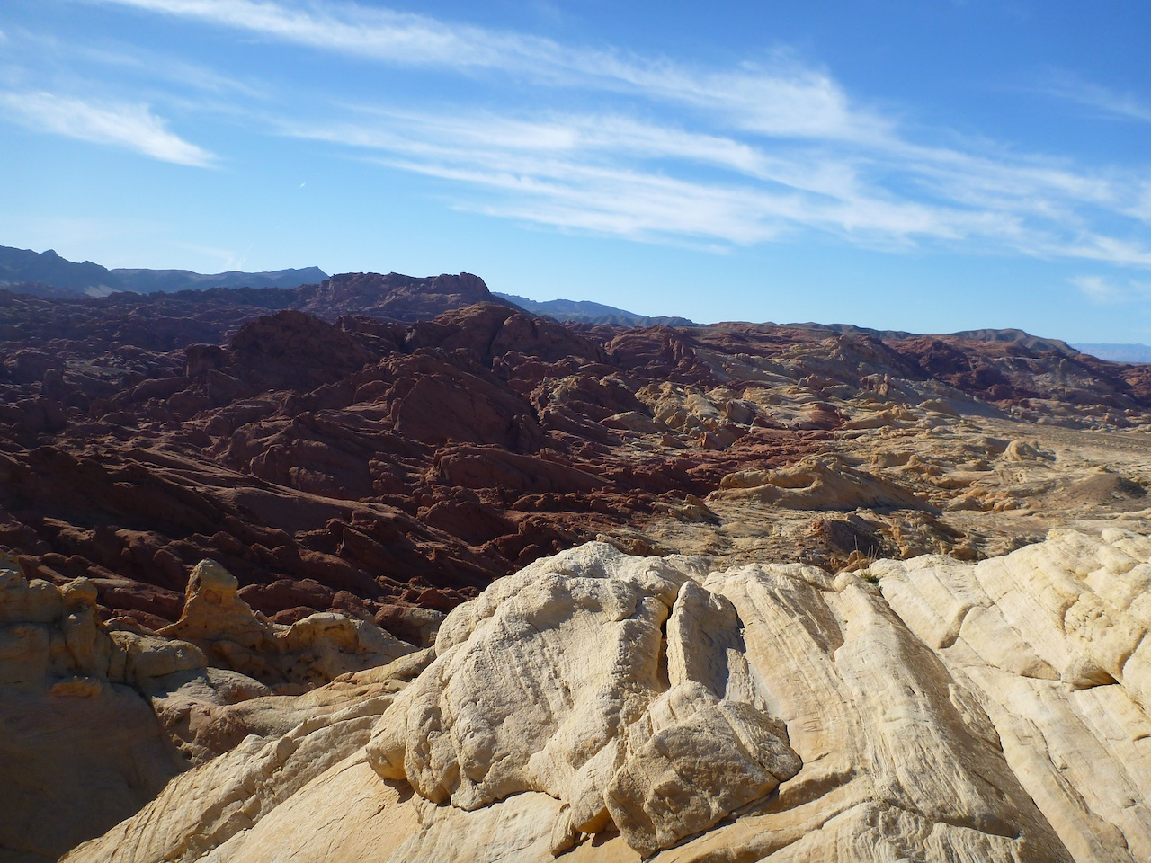 The View From The Top Of Silica Dome In Valley Of Fire State Park