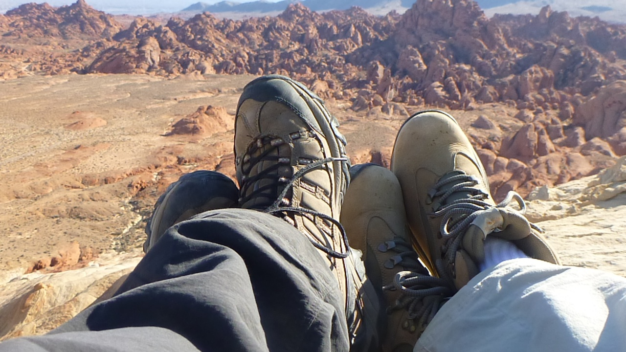 David And Brenda On Top Of Silica Dome At Valley Of Fire State Park