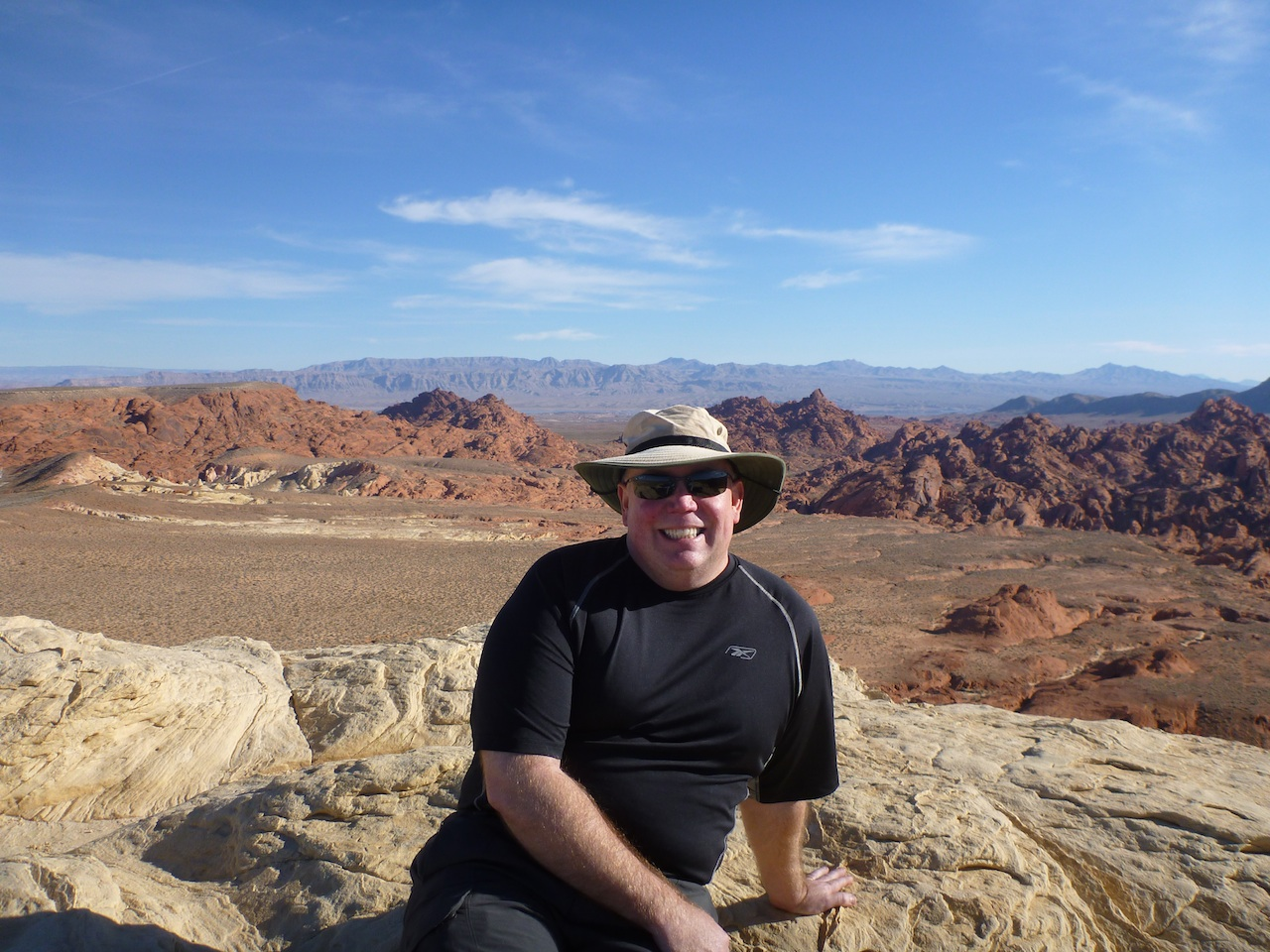 David Enjoying The View From The Top Of Silica Dome
