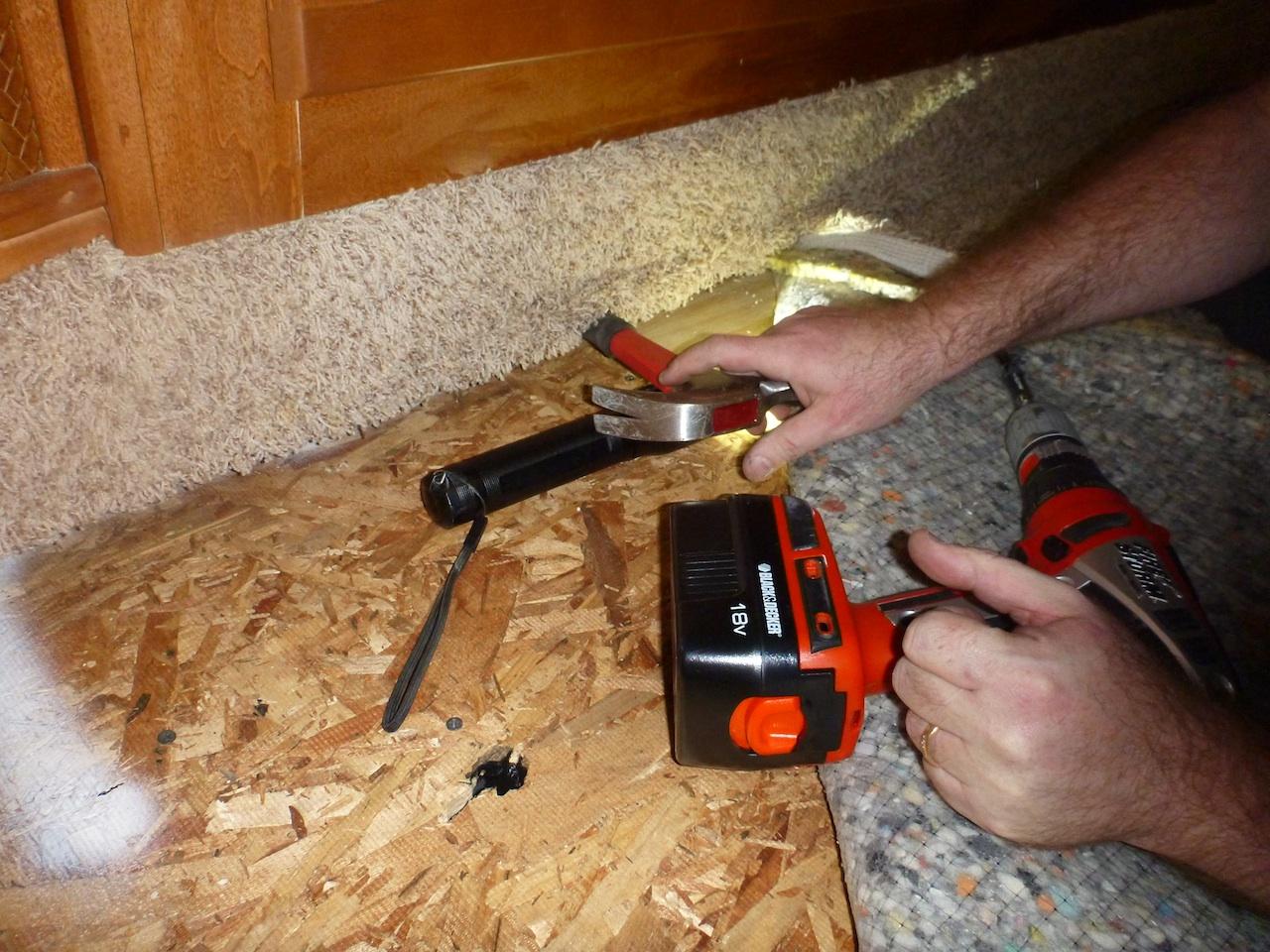 David Fixing The Squeak In The Bedroom Floor