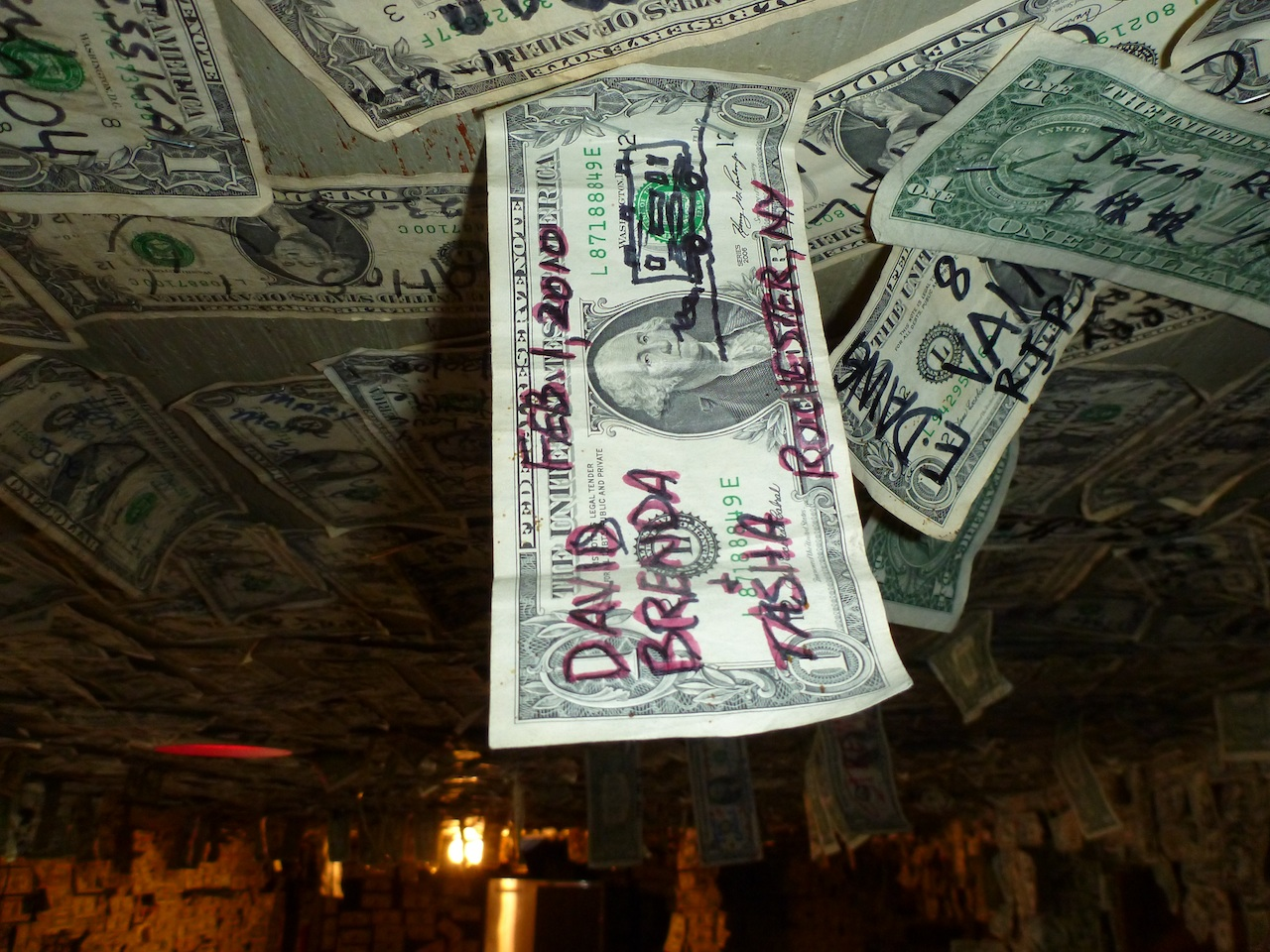 Our Dollar Bill Still There Two Years Later, Closer Up