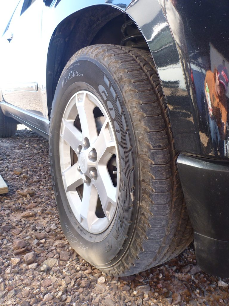 Tire Deflating As I'm Taking Picture