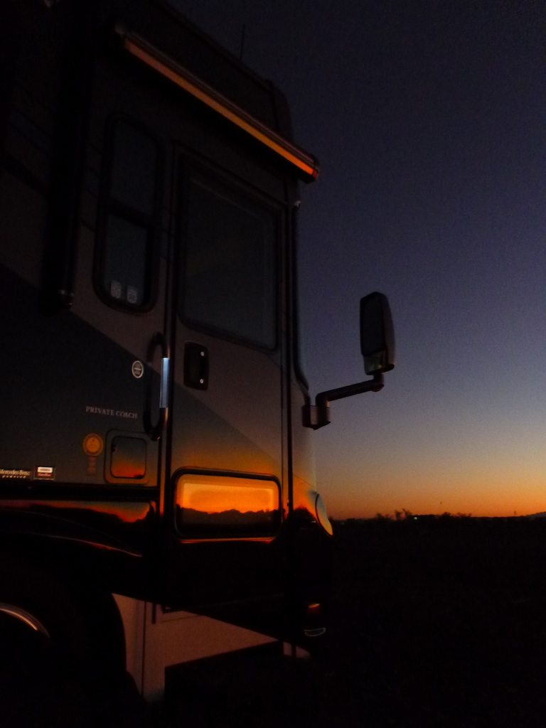 Beautiful Sunsets Reflecting Off The Coach