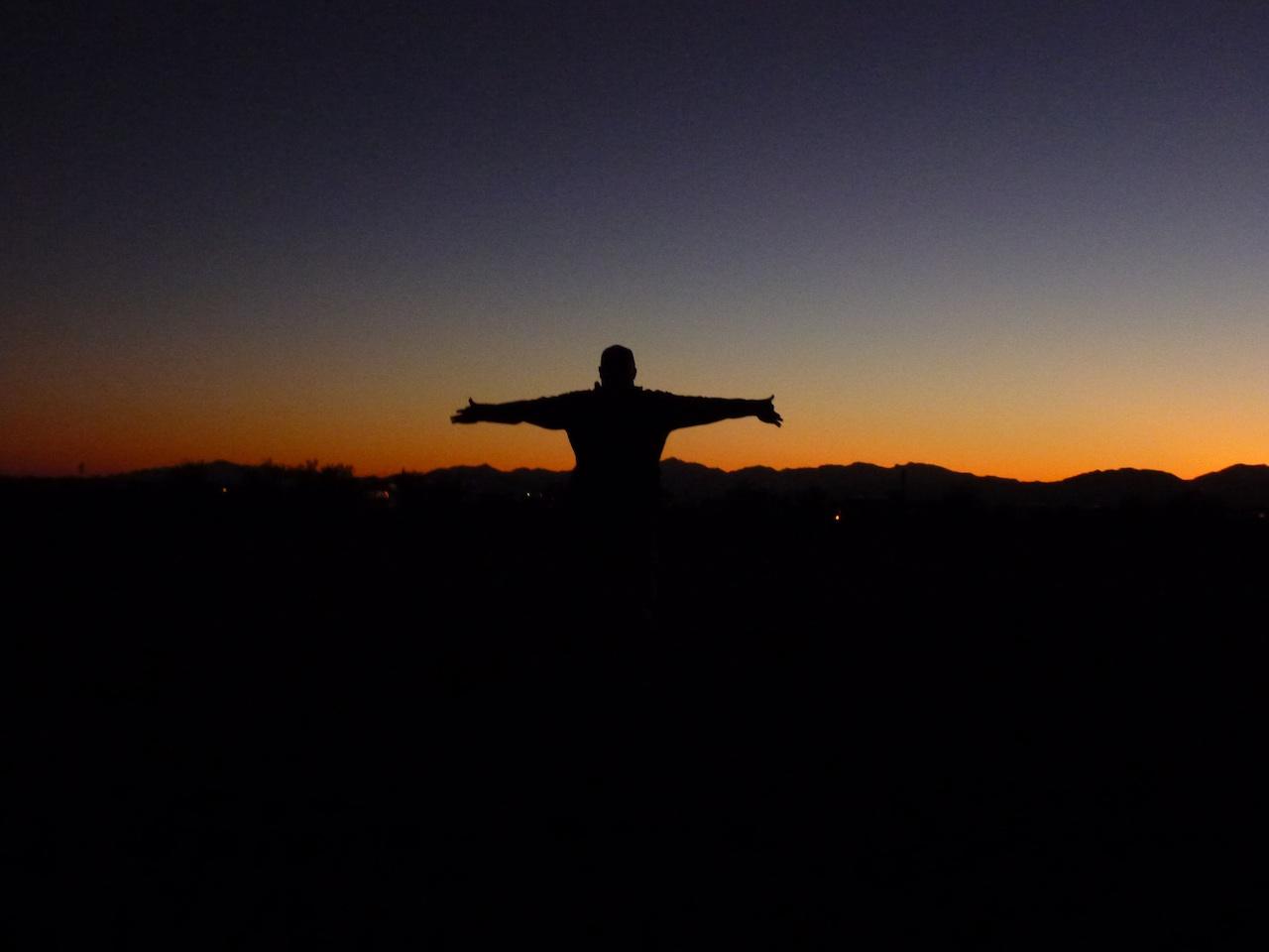 David Enjoying The Sunset