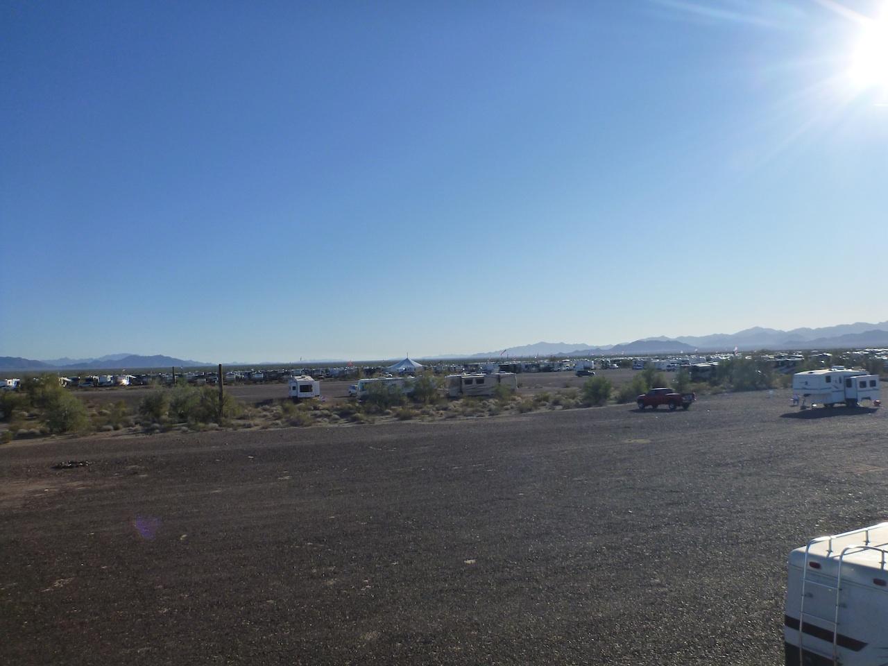 All The RVers On The BLM Land Around Quartzsite, AZ
