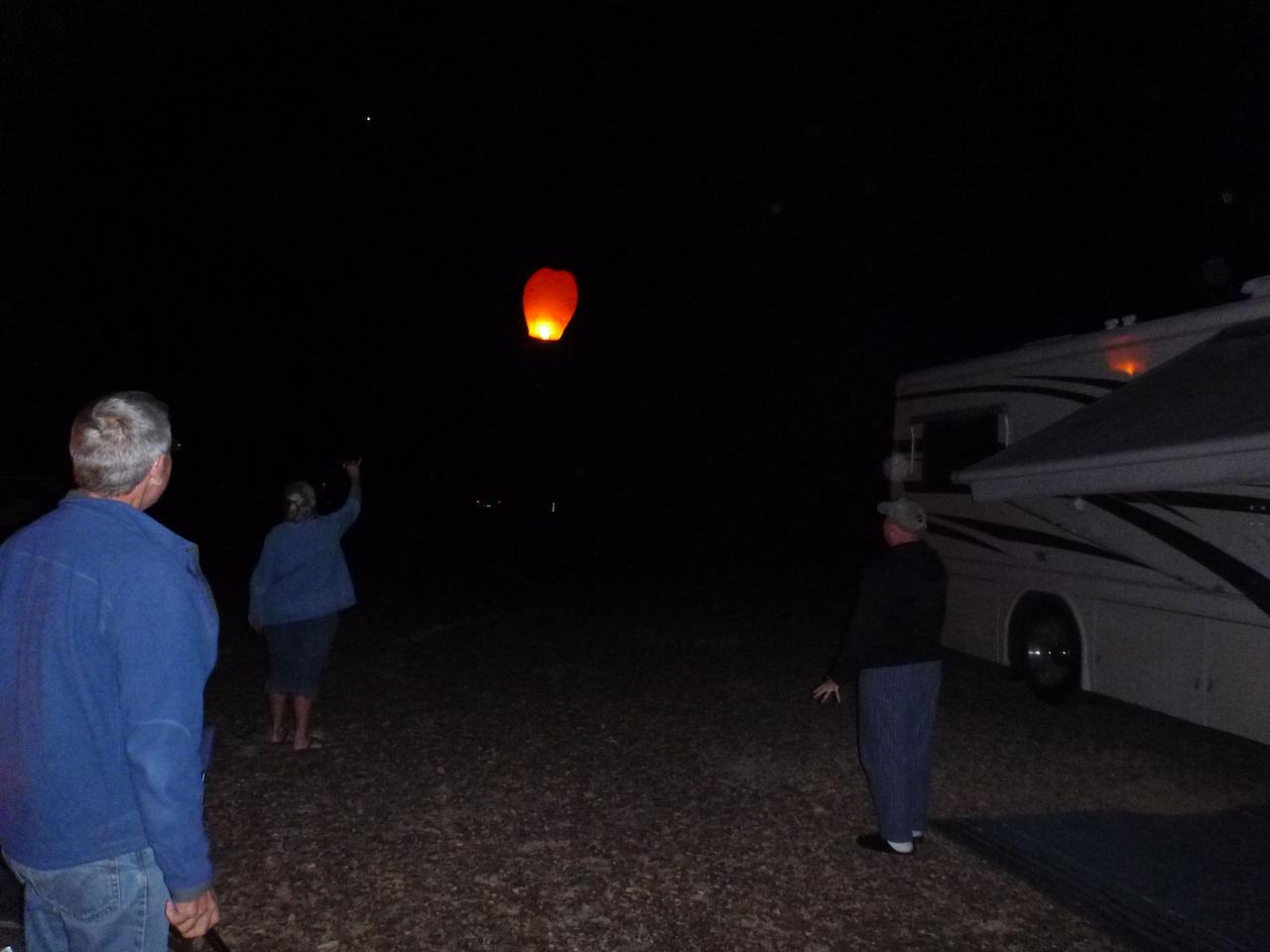 The Sky Lantern Floating Away