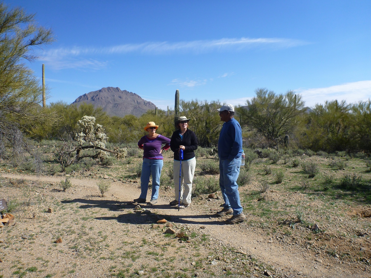 Laurie, Odel And Myself Along The Hiking Trail Behind The RV Park