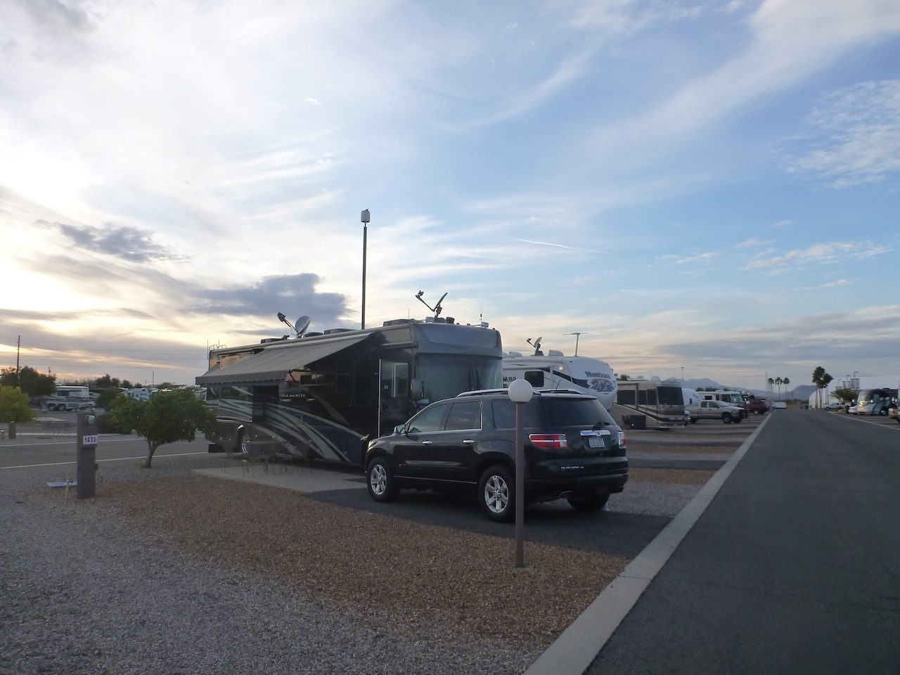 Our Site In Tucson At The Lazydays RV Campground