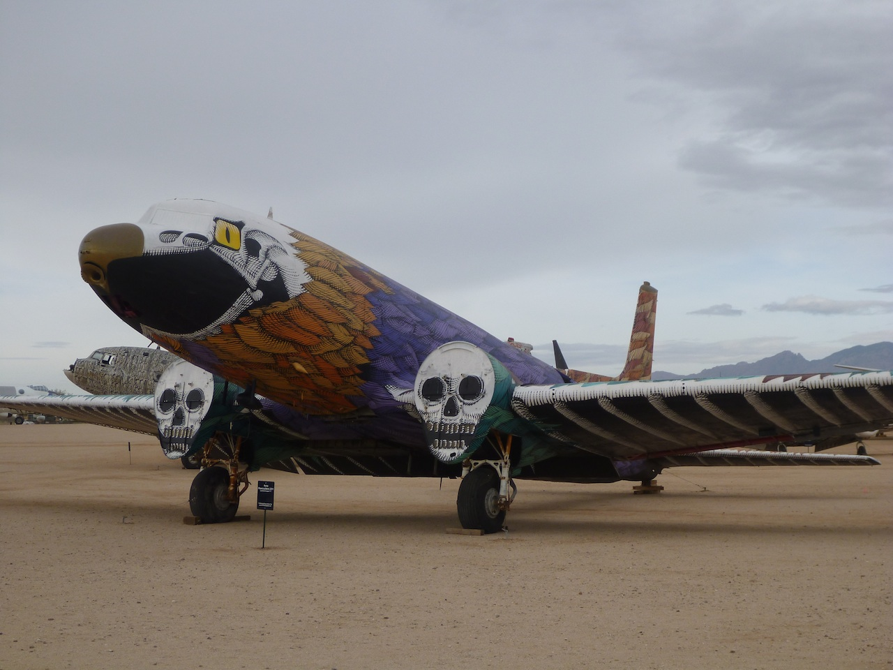 A Painted Plane Outside The Hangers