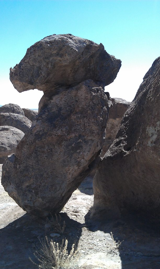 An Interesting Balancing Act In The City Of Rocks State Park