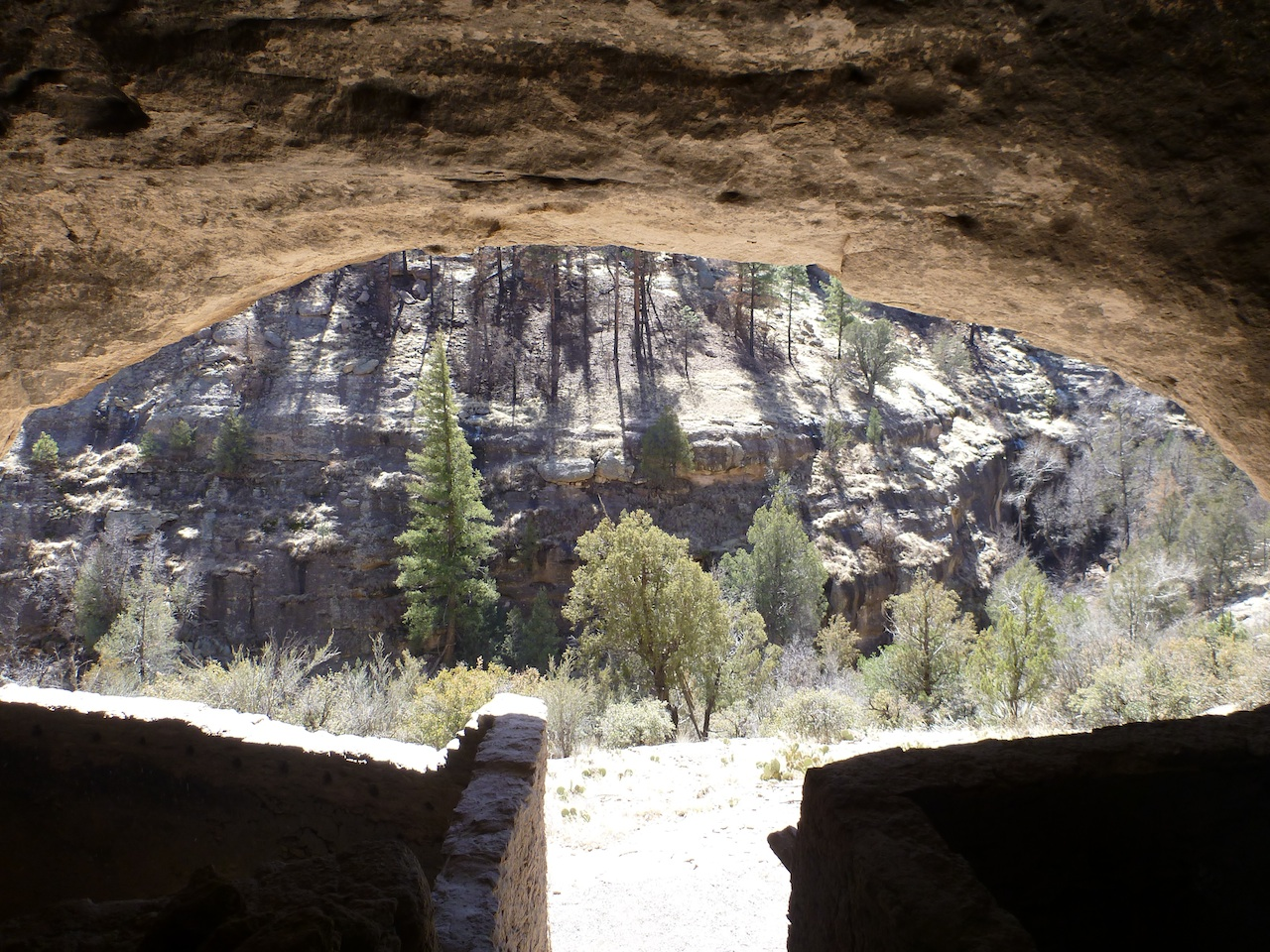 The View From Inside The Cliff Dwellings.
