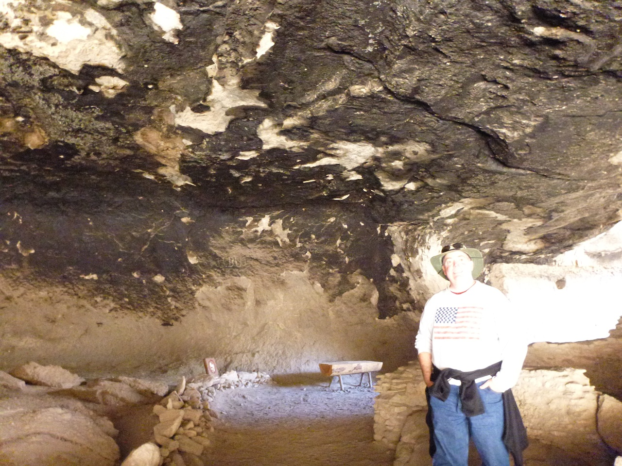 Inside The Cliff Dwellings.  Note The Heavy Build Up Of Soot On The Ceiling From Fires.