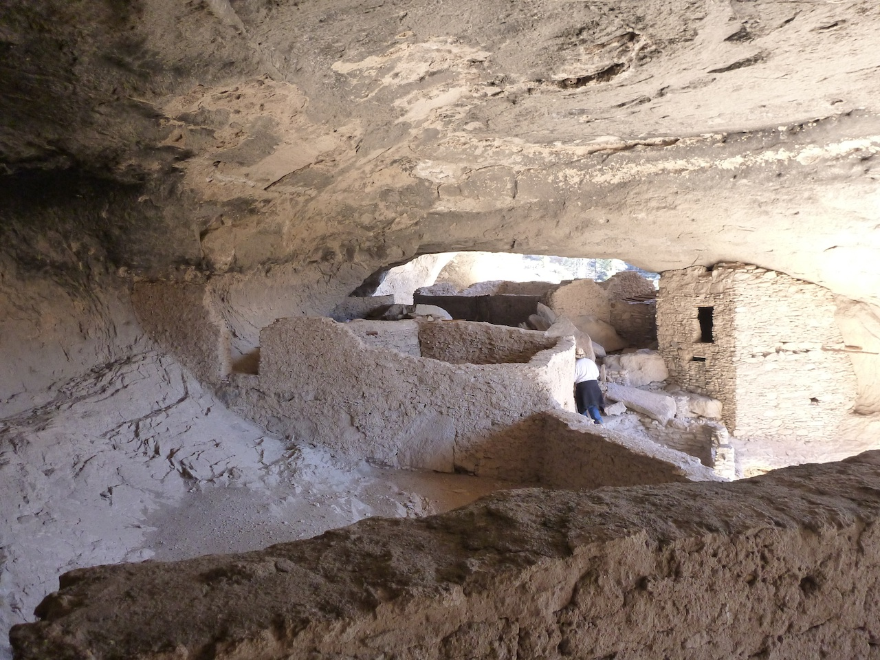 Inside The Cliff Dwellings.  You Can See The Various Rooms Walled Off.