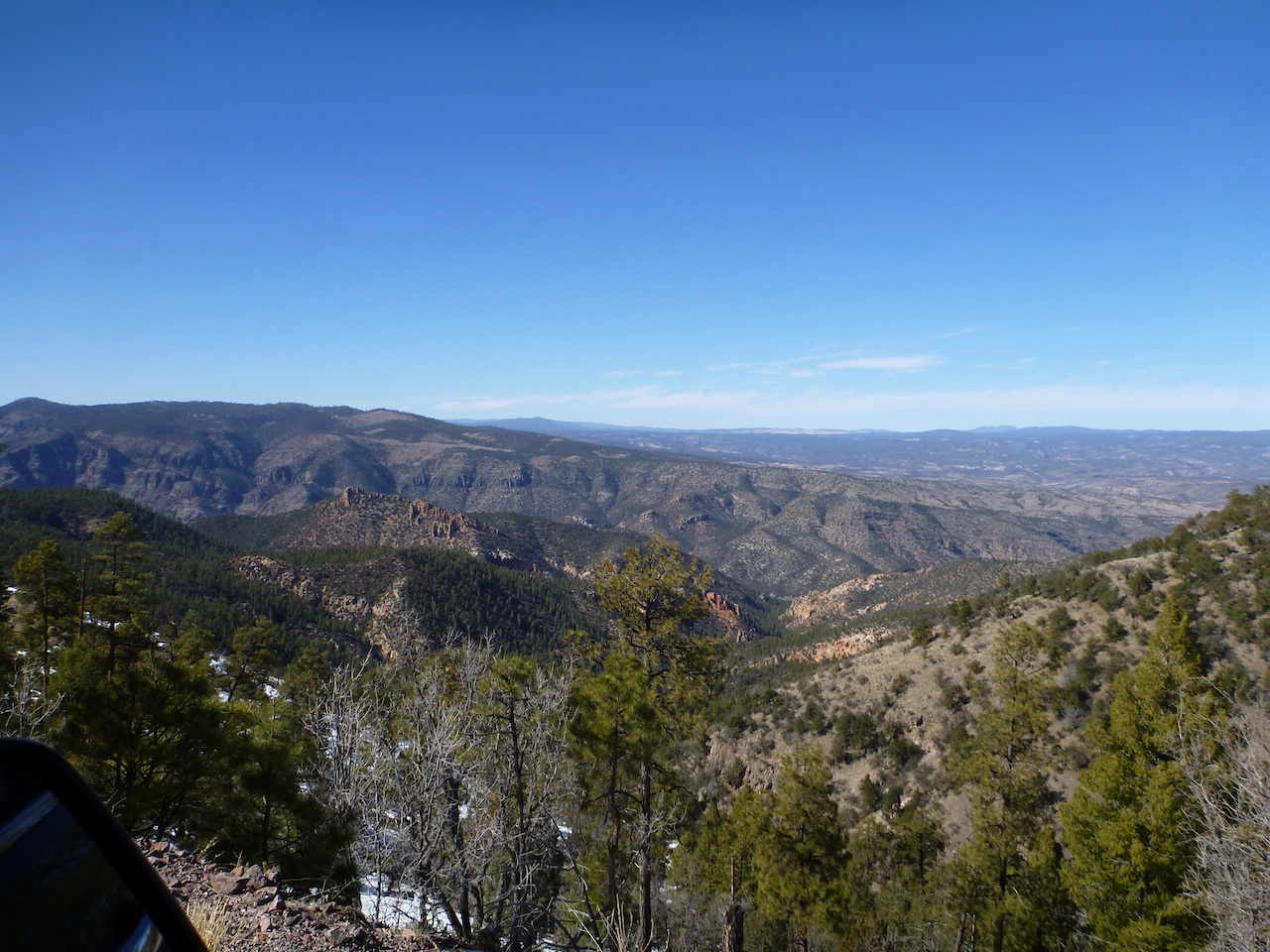 The View From The Top Of One Of The Mountains In The Gila National Forest