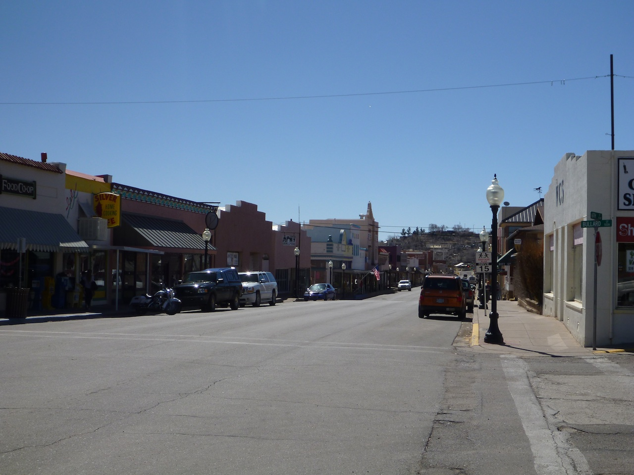 One Of The Downtown Historical Streets In Silver City, NM