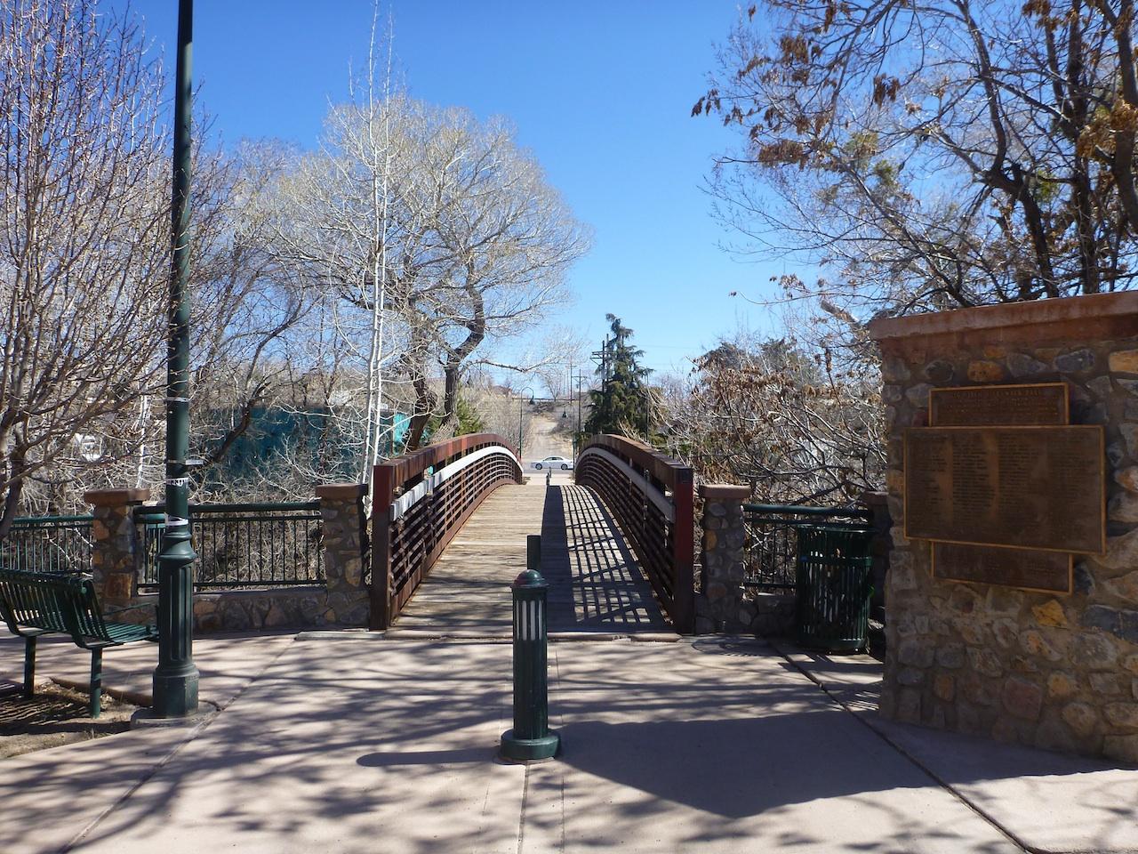 A Bridge That Spans Across The Big Ditch Park