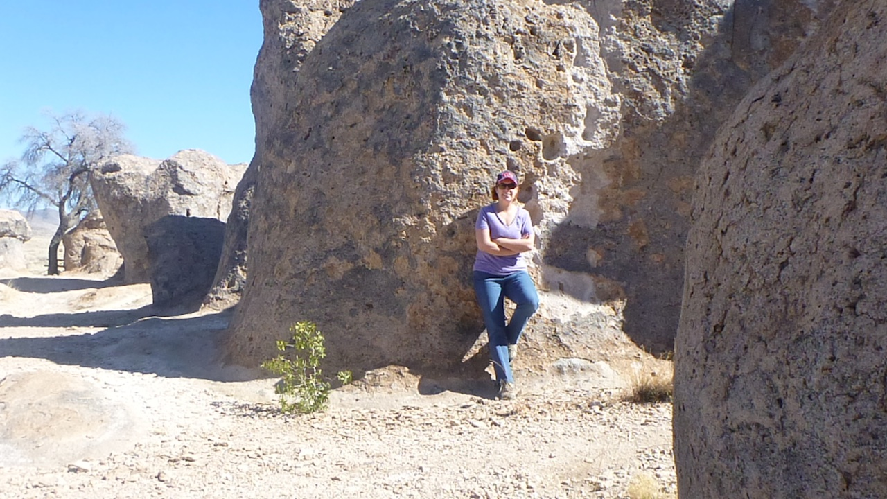 Brenda Enjoying The City Of Rocks State Park