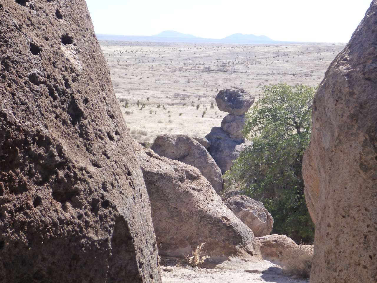 A View From The Top Of A Large Rock Formation In The City Of Rocks State Park