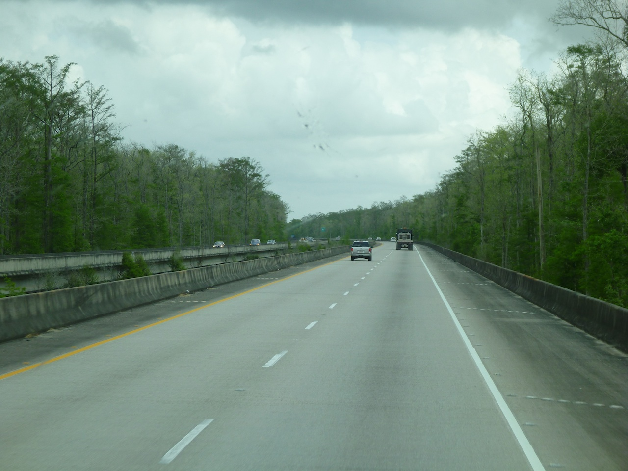 The Long bridge That Travels Over And Through The Swamp Land