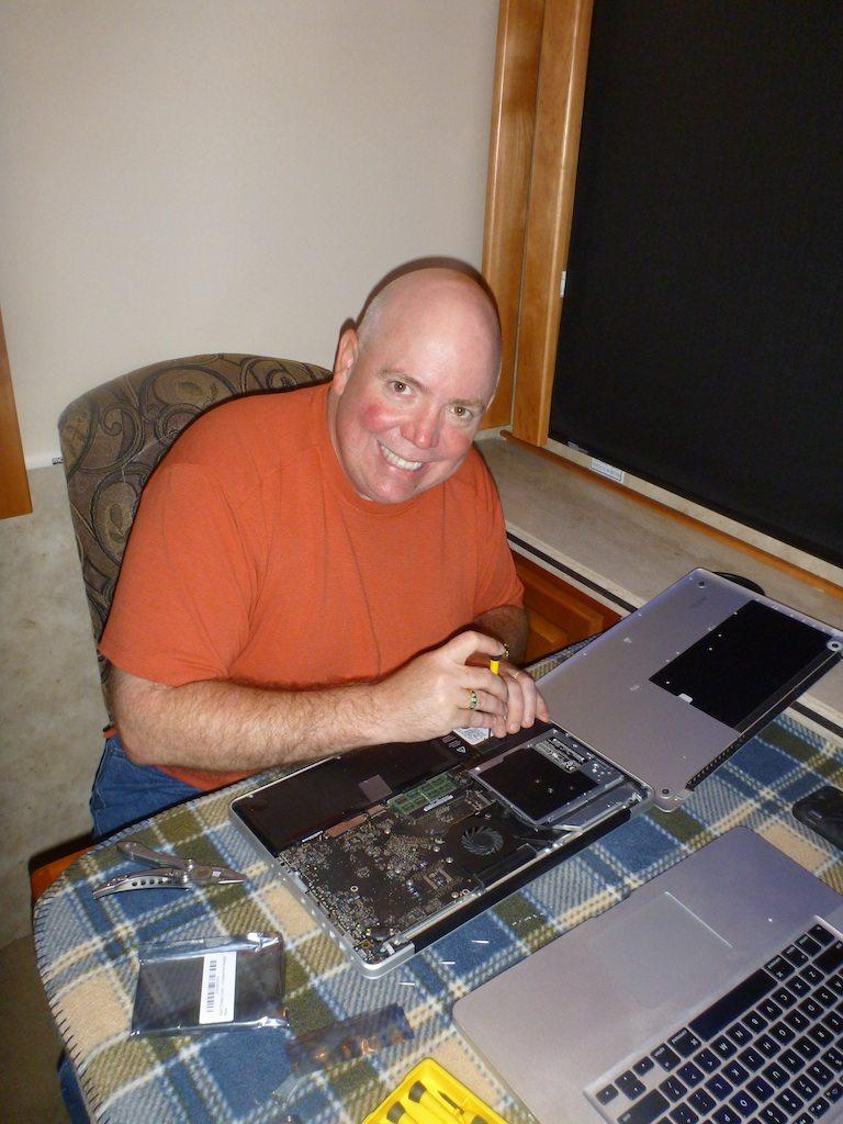 David Replacing The Hard Drive.
