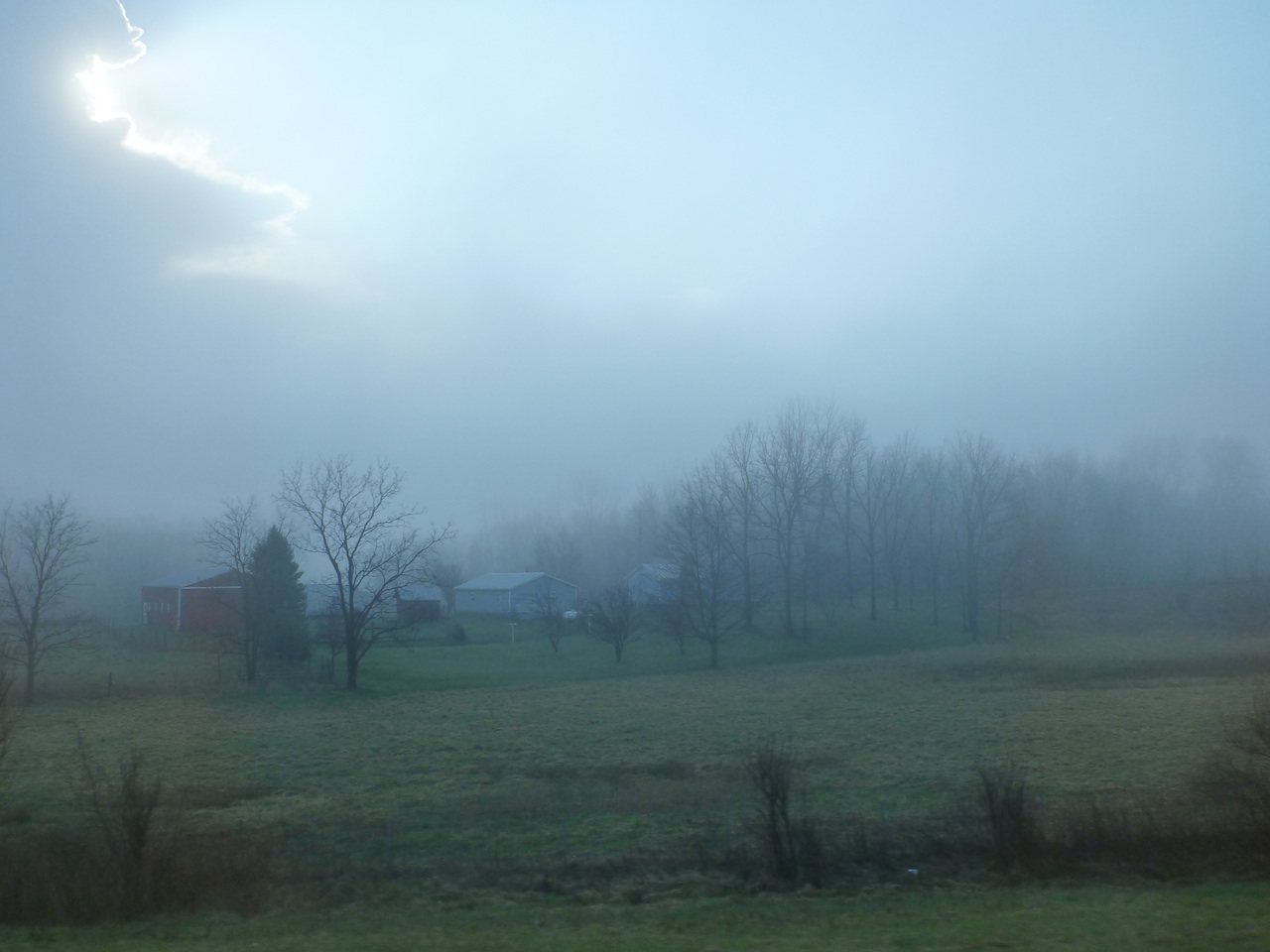 The Fog Just Lifting On This Farm In Ohio