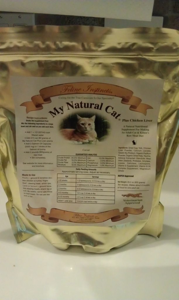 """Feline Instincts """"My Natural Cat"""" With Liver Powder Mix"""