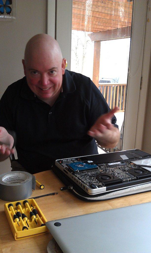 David Replacing Another Hard Drive