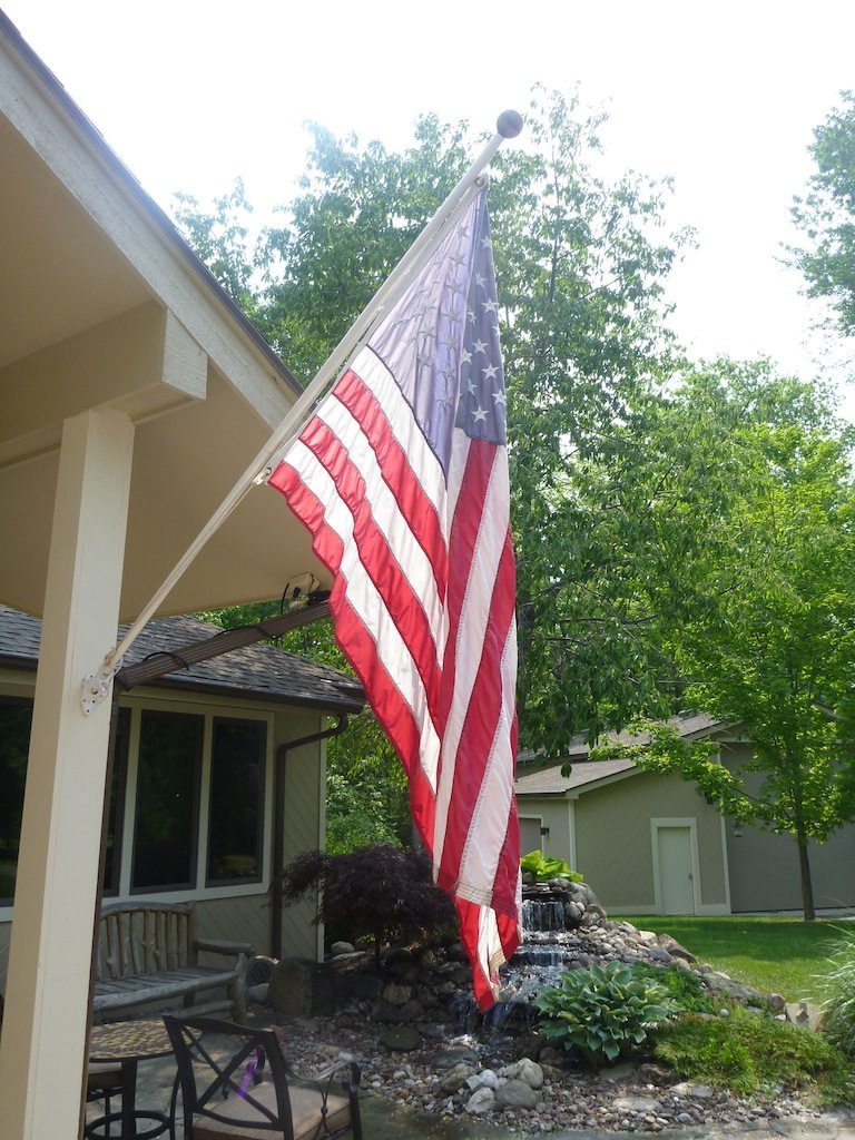 Flag Outside Our House Memorial Day 2012