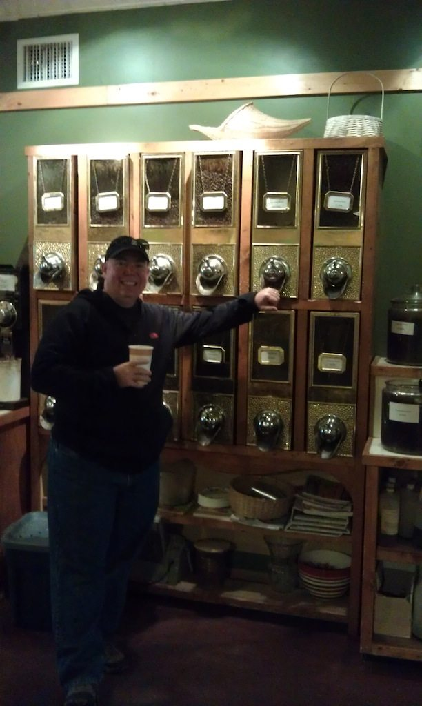 David Checking Out The Selection At Java Junction