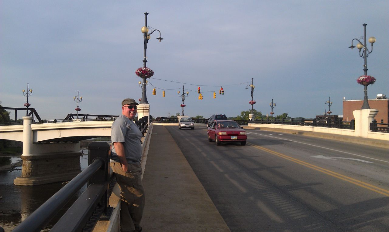 "David On The ""Y"" Shaped Bridge In Zanesville, OH"