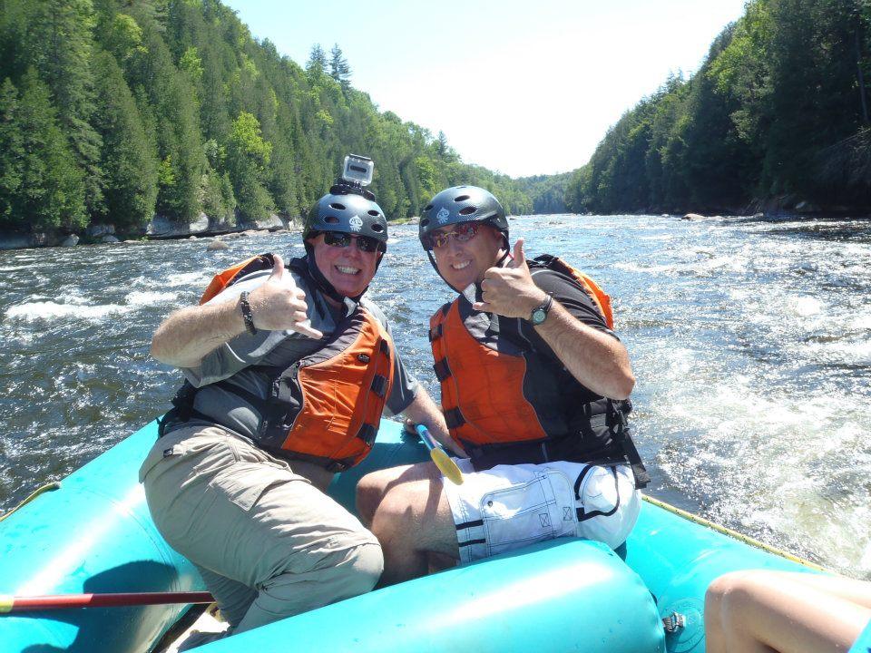 David And Joe On The River