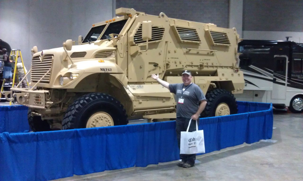 David Was In Awe At An Off Road Vehicle That Was On Display
