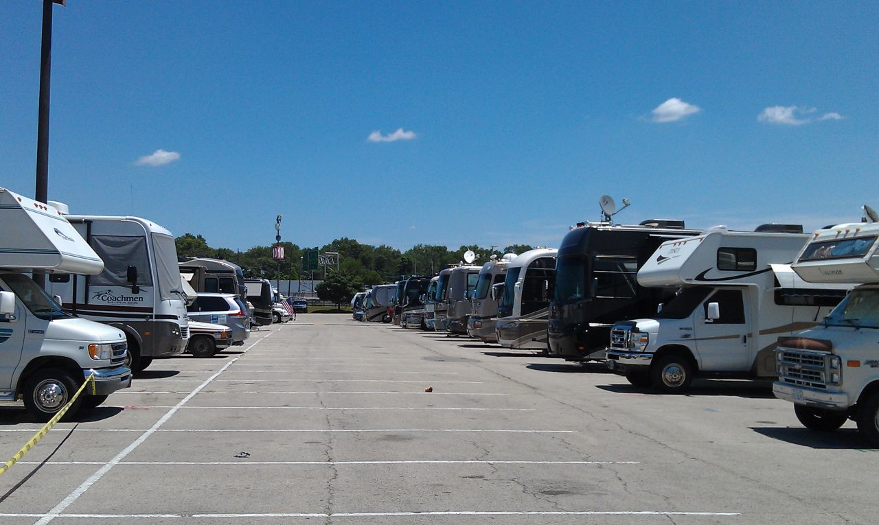 Our Rig Among The Others In The Vendor Parking Area