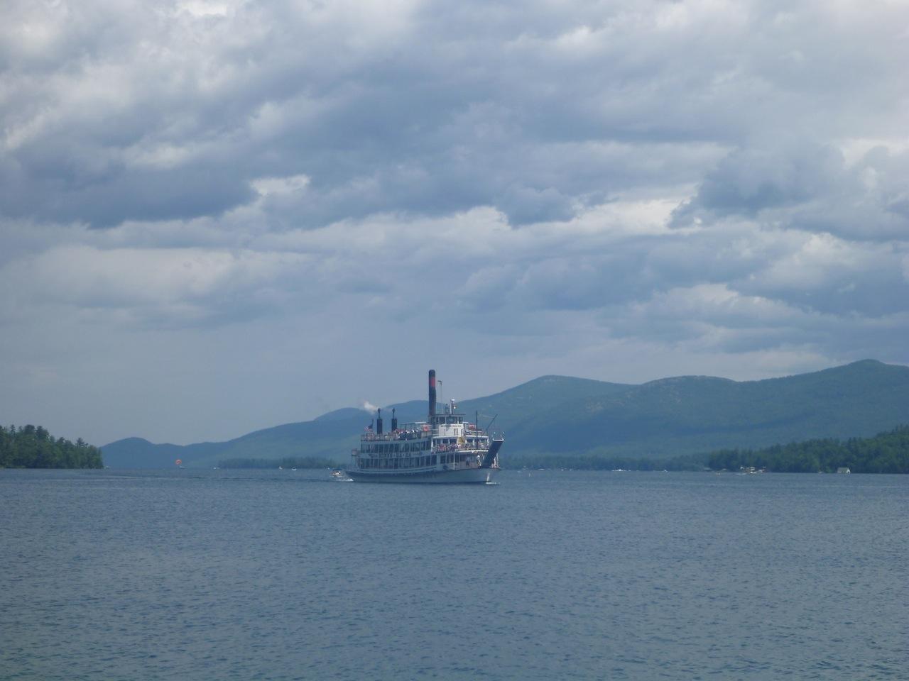 Minnie Ha Ha Steam Boat On Lake George