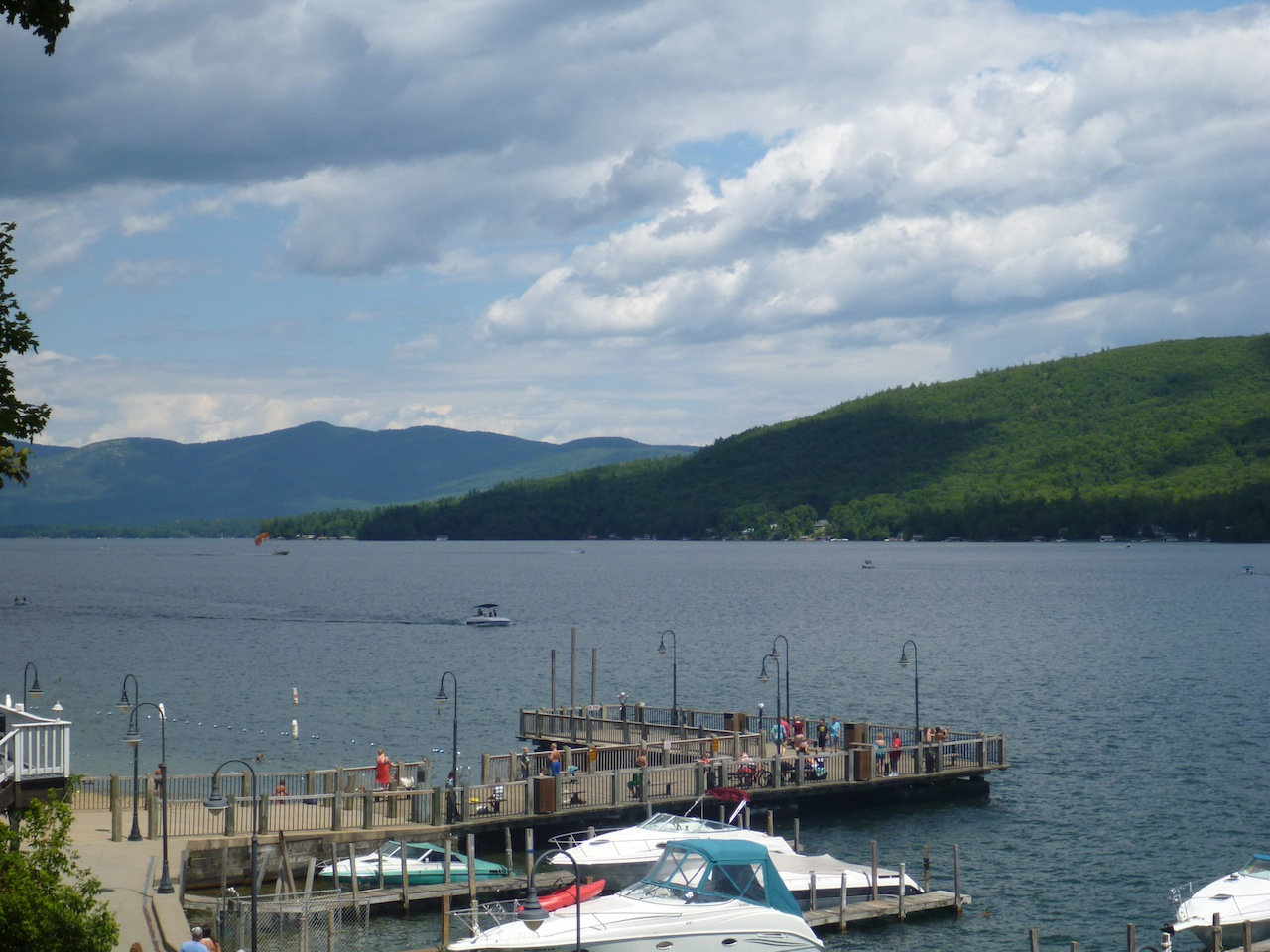 A View Of Lake George From A Lookout In The Shopping Area