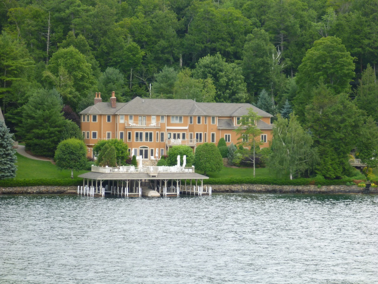 Some Of The Houses Along Lake George