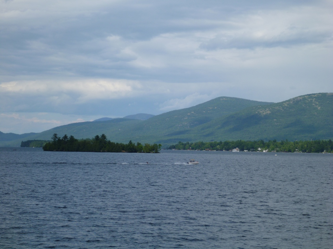 A View Of The Adirondack Mountains From The Boat