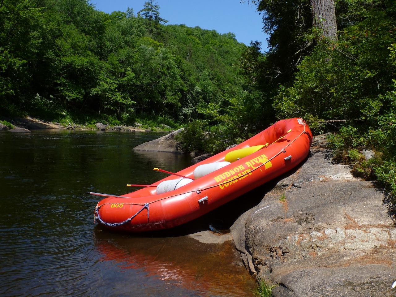 Rafting Down The Hudson River In The Adirondacks