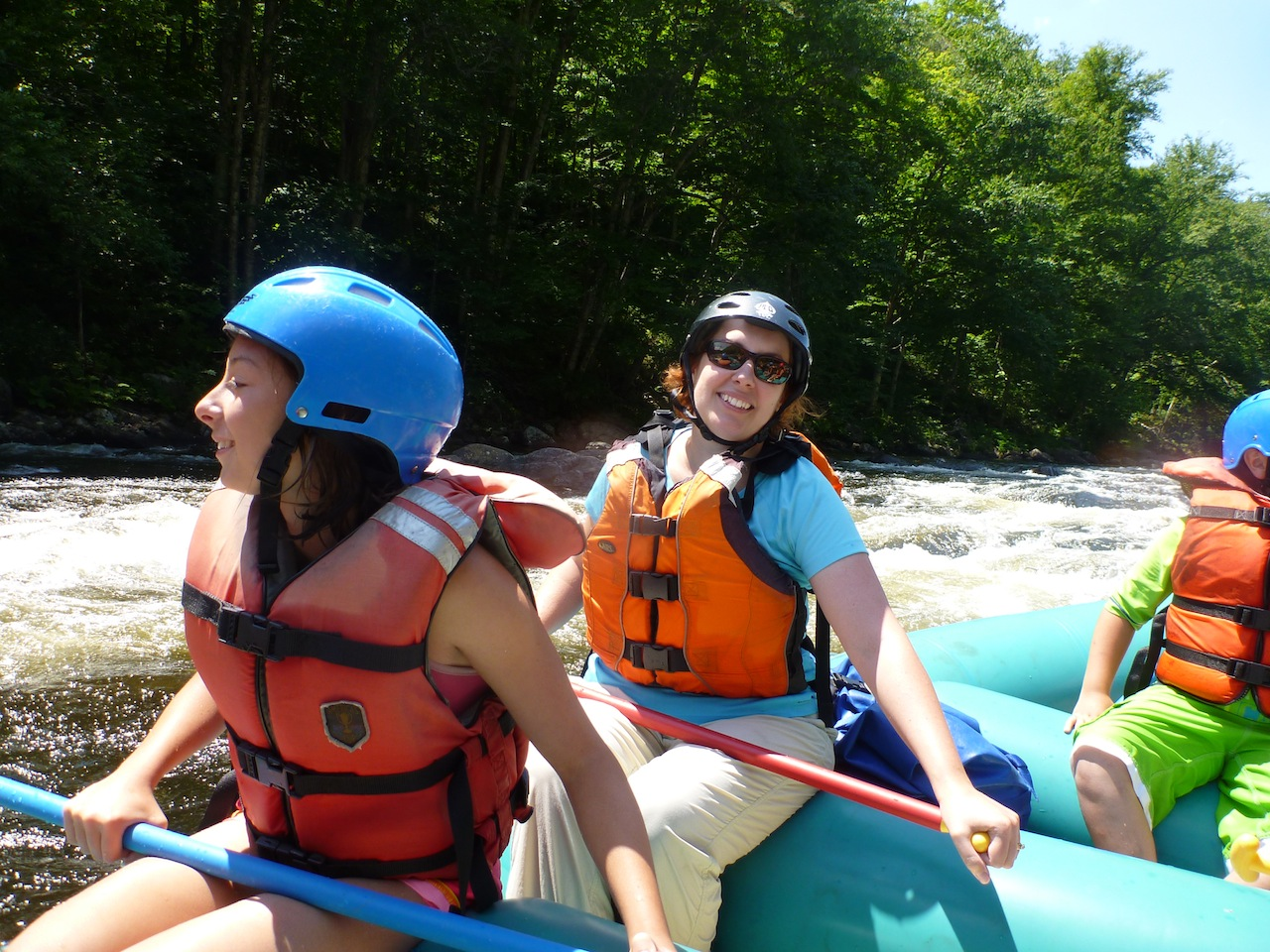 Brenda And Amanda Rafting The Hudson River