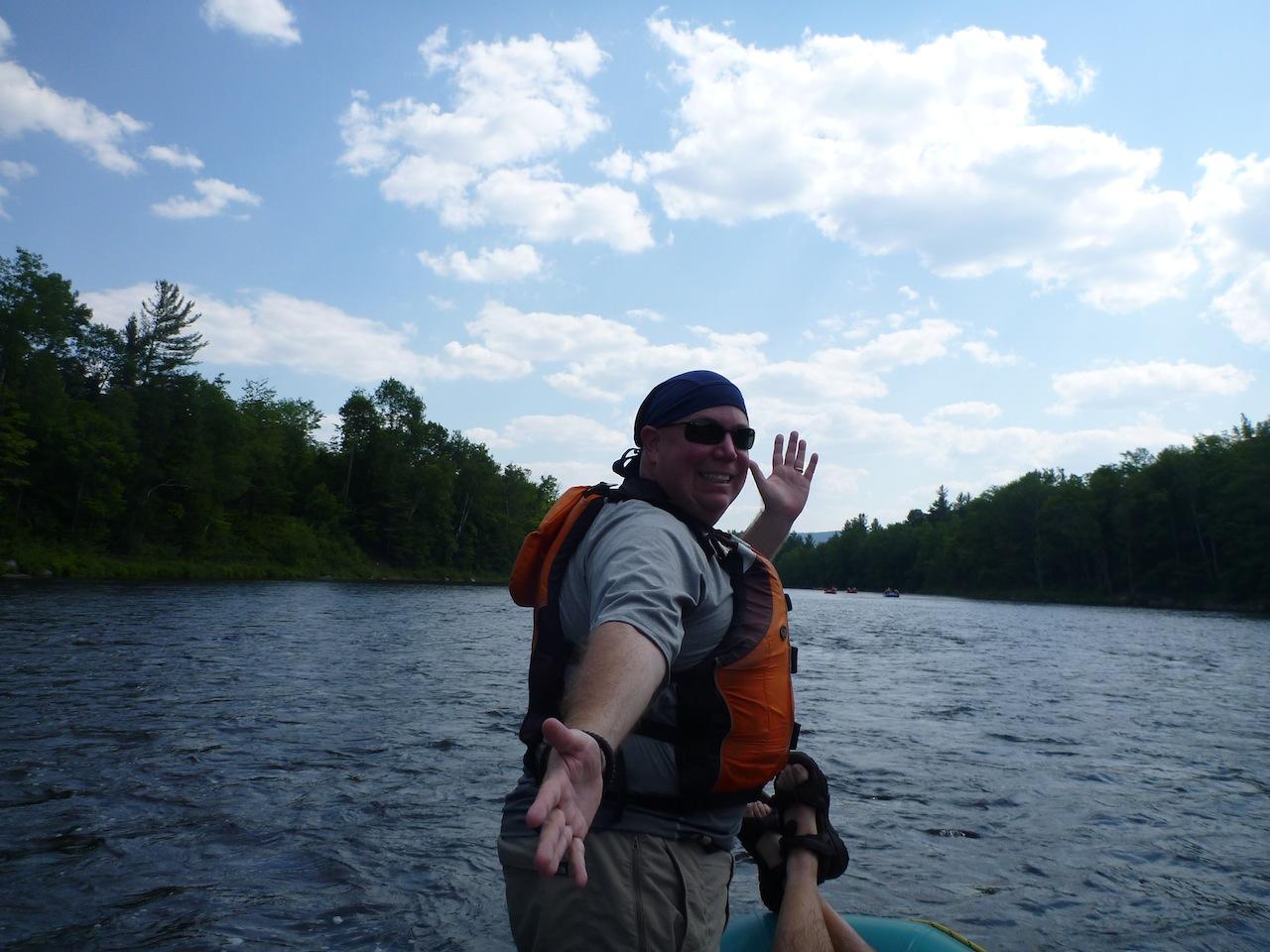 David Enjoying The River