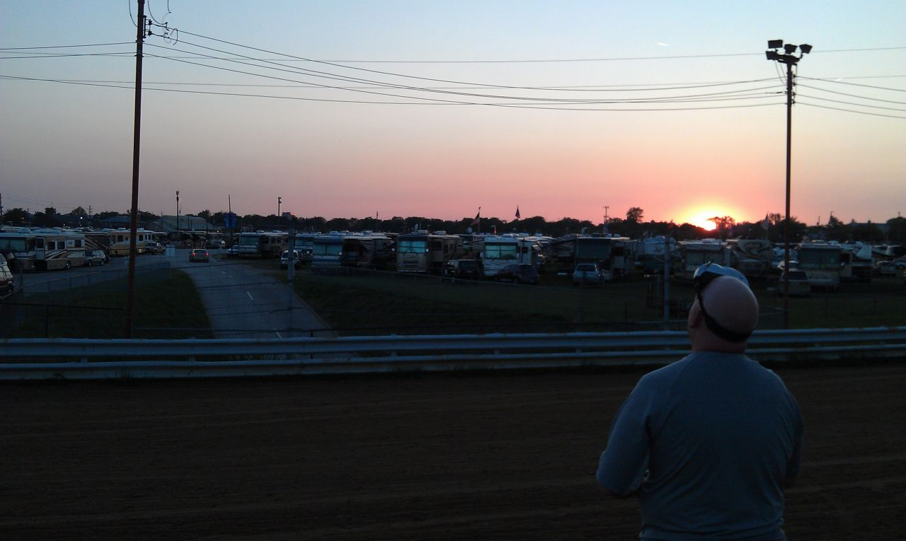 The Beautiful Sunset Over The Infield