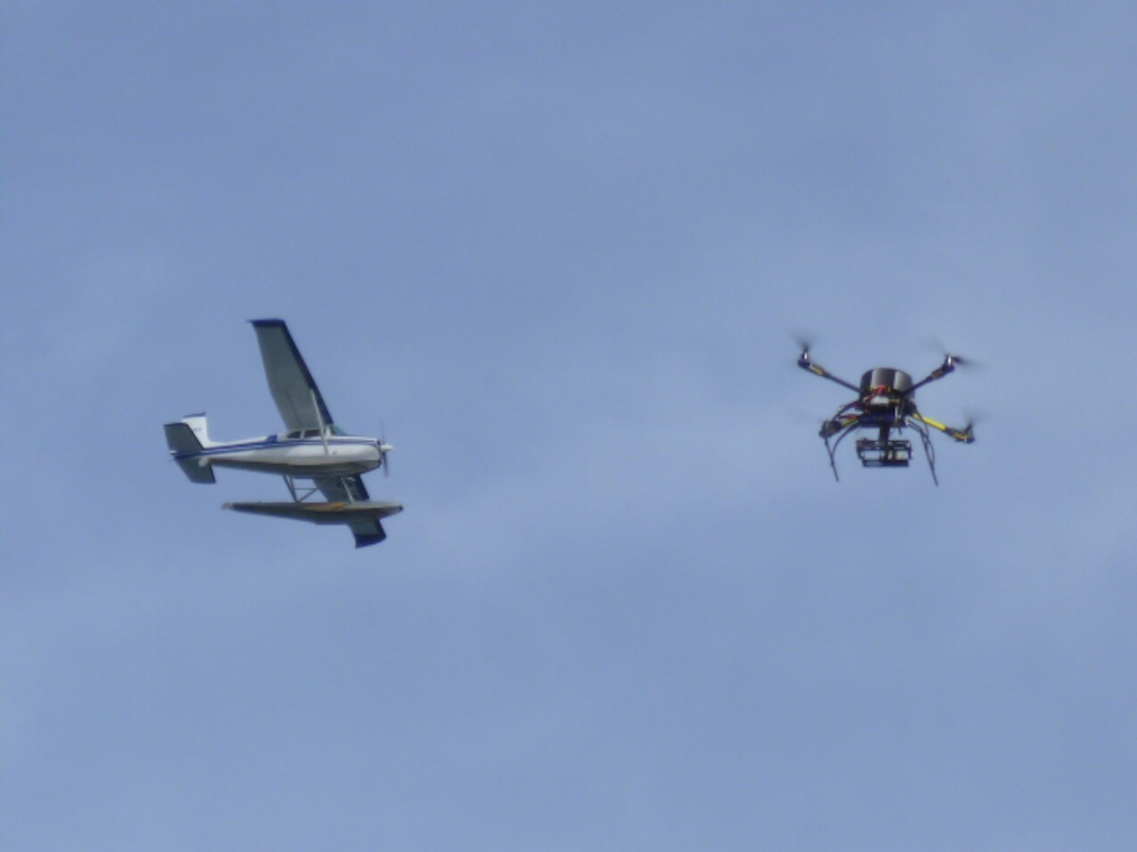 David Flying The Quadcopter And A Seaplane Happened To Go By.  Thanks To Debbie Jelen For The Great Photo.