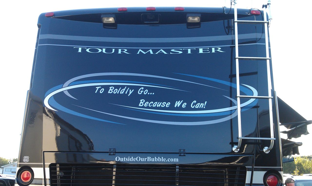 New Lettering On The Back of The Coach