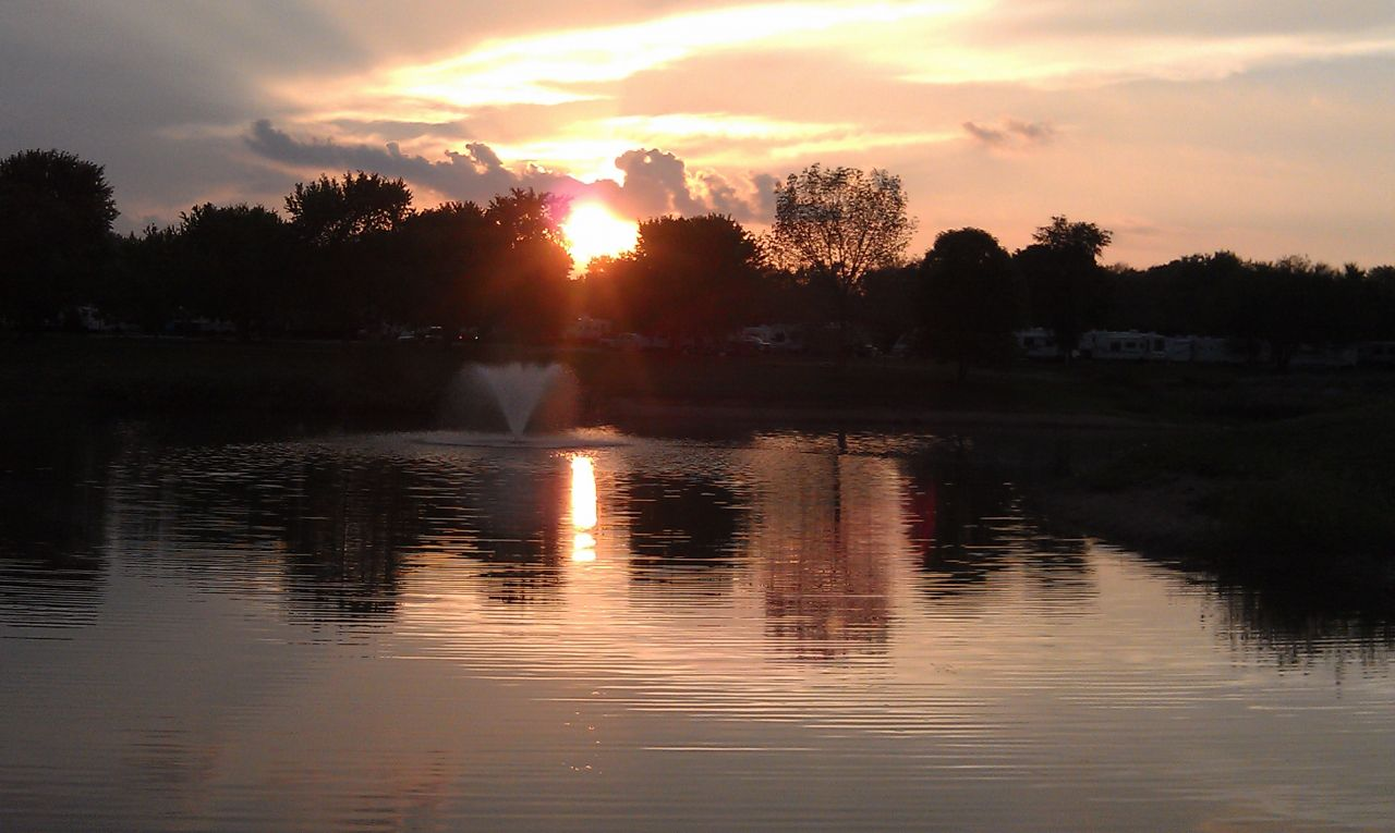 Sunset Over Lake Haven Retreat Campground