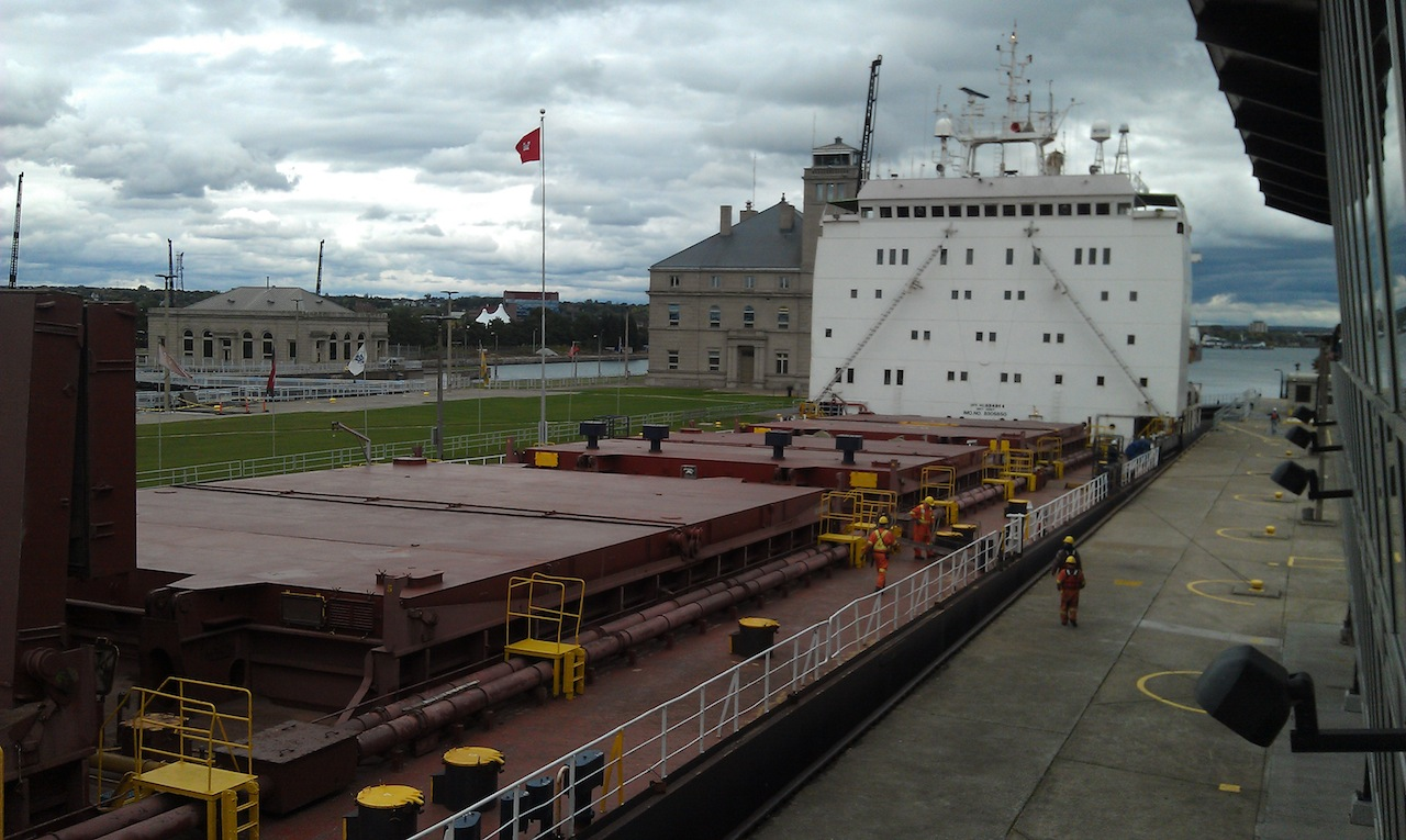 Ship Entering Locks